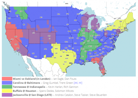 NFL Distribution Map